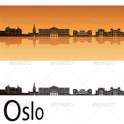 tattoo prices oslo oslo skyline in orange background by paulrommer graphicriver