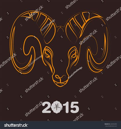 new year 2015 goat quotes new year goat 2015 stock vector 234355393
