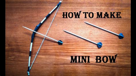 How To Make A Bow And Arrow Paper - how to make a mini bow and arrow craft for kid