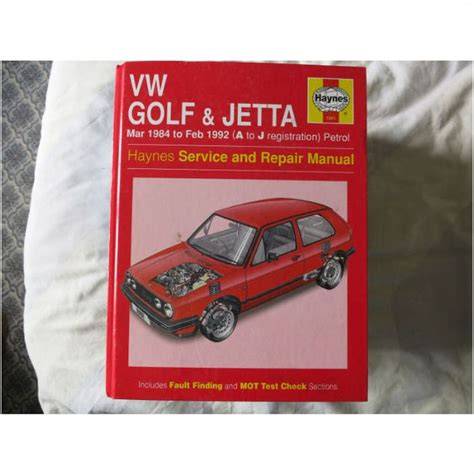 Vw Golf Amp Jetta March 1984 To February 1992 Haynes Service