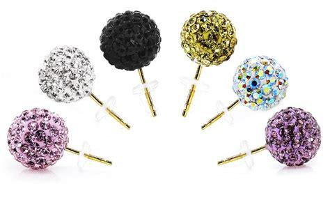 14k gold swarovski elements stud earrings