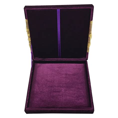 purple wedding invitations boxes royal purple velvet fleur de lis embellished invitation