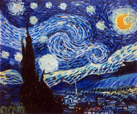 starry night van gogh starry night reproduction painting overstockart