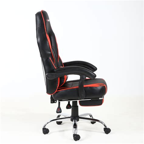reclining gaming desk chair gtforce pace reclining leather sports racing office desk