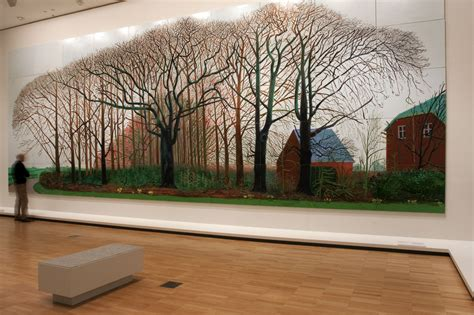 David Hockney by Bigger Trees Near Warter Print Beatiful Tree