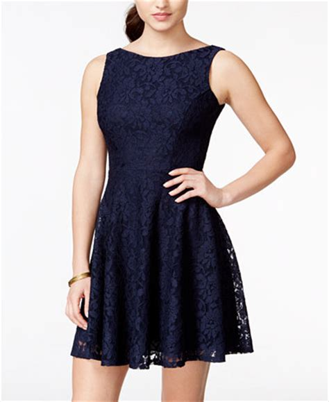 Of Dresses Macys by Speechless Juniors Lace Fit Flare Tank Dress Only At