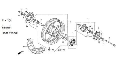 Bearing Krek As Cbr 150 R 91001 Kpp 901 moto th honda cbr150r 2011 parts rear wheel
