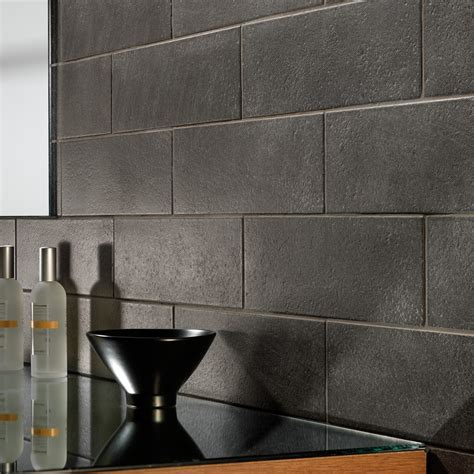 efeso black wall floor tile 100x300mm wall tiles and