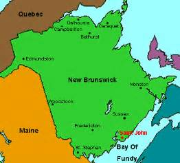 new brunswick on canada map new brunswick