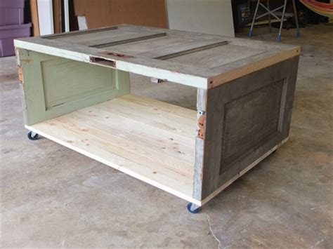 How To Make A Coffee Table Out Of A Door Diy And Crafts How To Make A Coffee Table Out Of Reclaimed Wood