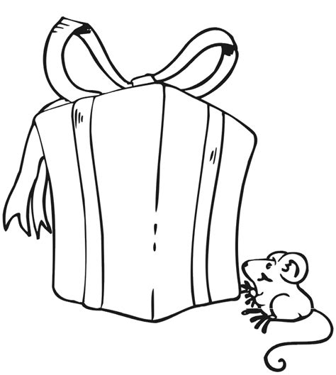 wrapped present coloring page christmas present coloring page wrapped present