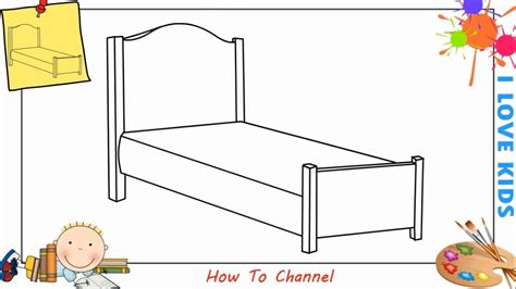 draw  bed easy step  step  kids beginners children youtube