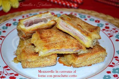 mozzarella in carrozza in forno mozzarella in carrozza al forno con prosciutto cotto