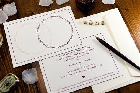 combossa wedding invitations 53 best letterpress wedding invitations combined rings