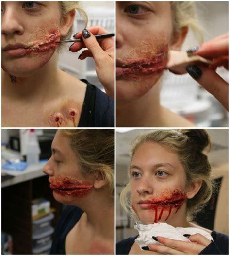 zombie makeup tutorial with latex 3 diy halloween makeup effects infected zombie bite