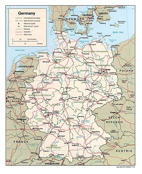 A Map Of Germany by Germany Maps Maps Of Germany Germany Maps Online