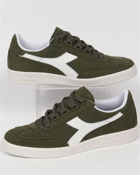 Diadora Clasic Original diadora b original suede trainers green olivina borg shoes