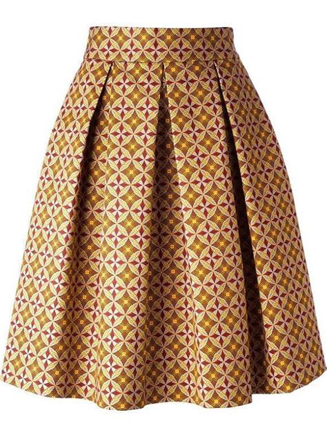 ghanian lines designs african print skirt pleated midi skirt african fashion