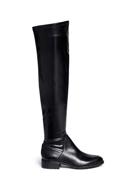 sam edelman remi stretch leather thigh high boots in black