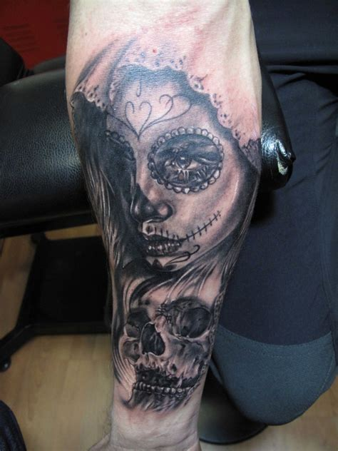 santa muerte tattoo santa muerte sleeve pictures to pin on