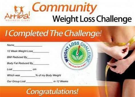weight loss certificate template arriba weight loss certificate club weight loss challenge