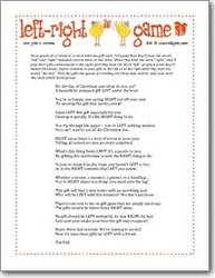 left right new years game party games pinterest