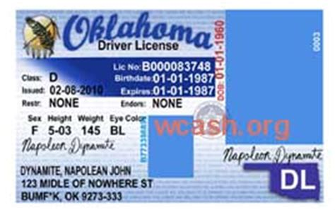 template oklahoma drivers license editable photoshop file