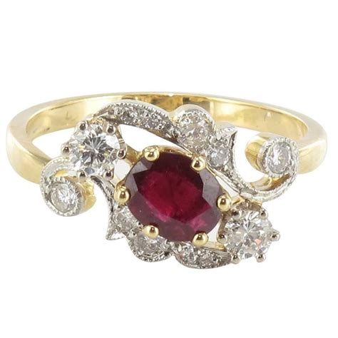 new antique style ruby gold ring at 1stdibs