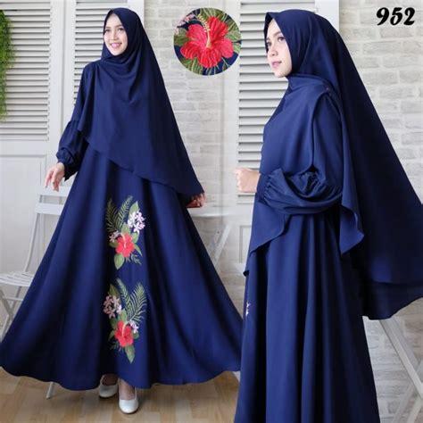 Harga Gamis Bordir by Gamis Syari Bubblepop Bordir 952 Baju Muslim Murah