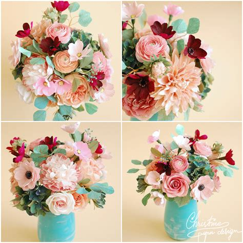 Wedding Flower Paper Centerpiece christine paper design christine paper design it s me