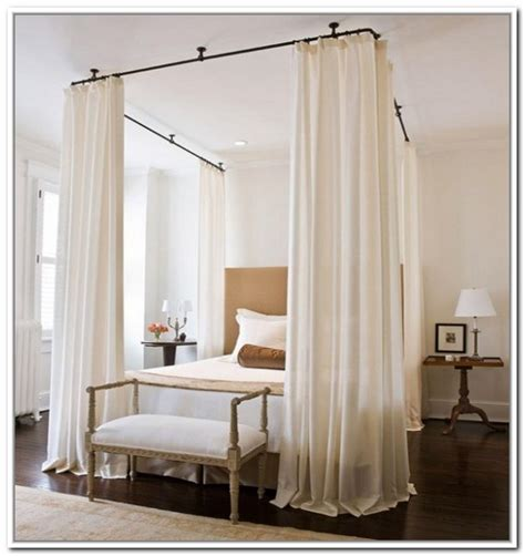 ceiling mounted bed curtains ceiling rod ceiling mount curtain rods canopy bed