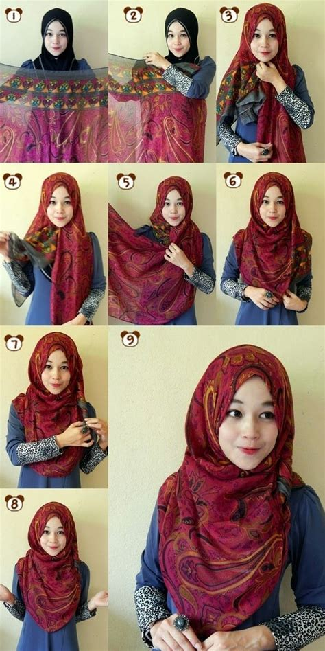 tutorial hijab pashmina jepang 35 cara memakai jilbab pashmina simple kreasi terbaru 2017
