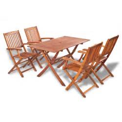 Outdoor Dining Table Chairs Vidaxl Wooden Outdoor Dining Set 4 Chairs 1 Rectangle Table Vidaxl