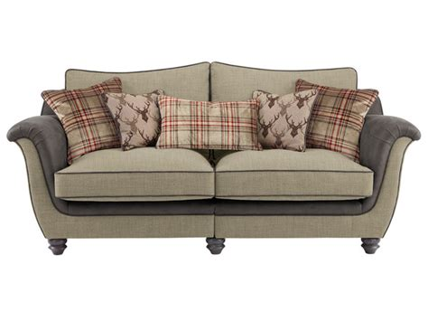 check fabric sofa galloway large high back sofa in blyth fabric beige with