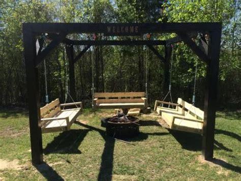 diy swing fire pit fire pit swings diy outdoor furniture tutorials