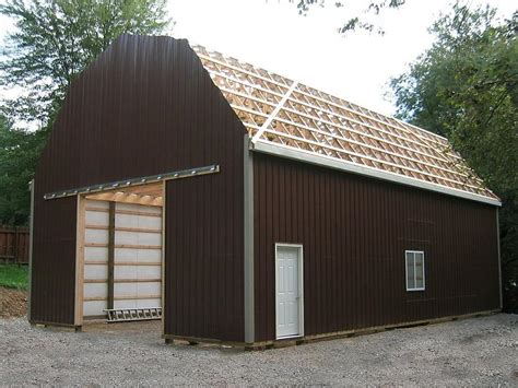 gambrel pole barn 1 pole barn plans gambrel roof 12 215 14 shed plans free