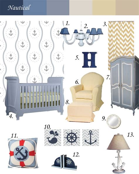Nautical Themed Nursery Decor Nautical Nursery Theme Temporarywallpaper Swagpaper Inspirationboard Inspiration Board