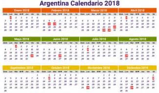 Calendario 2018 Con Feriados Argentina Calendario 2018 Para Argentina Con D 237 As Festivos