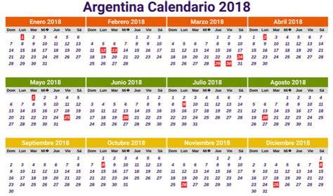 Calendario Anual 2018 Calendario 2018 Para Argentina Con D 237 As Festivos