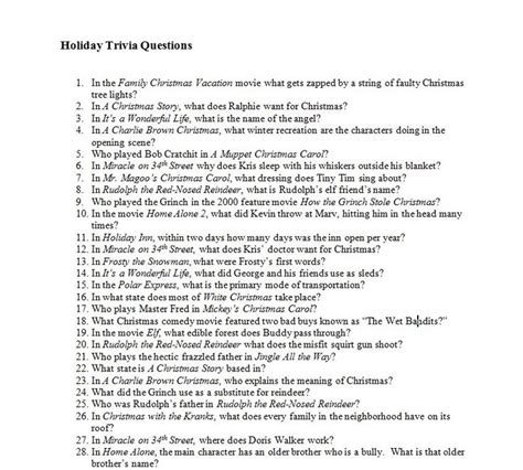 movie trivia questions and answers for teens year end holiday trivia quiz during december there are