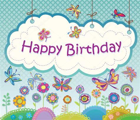 imagenes de rosas para happy birthday vector tarjetas de felicitaci 243 n con flores y mariposas