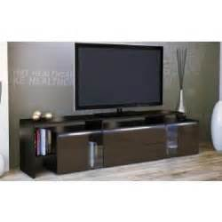 meuble tv design laqu 233 noir et chocolat non achat