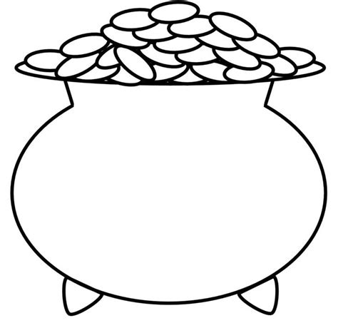 Gold Coloring Pages pot of gold coloring pages world