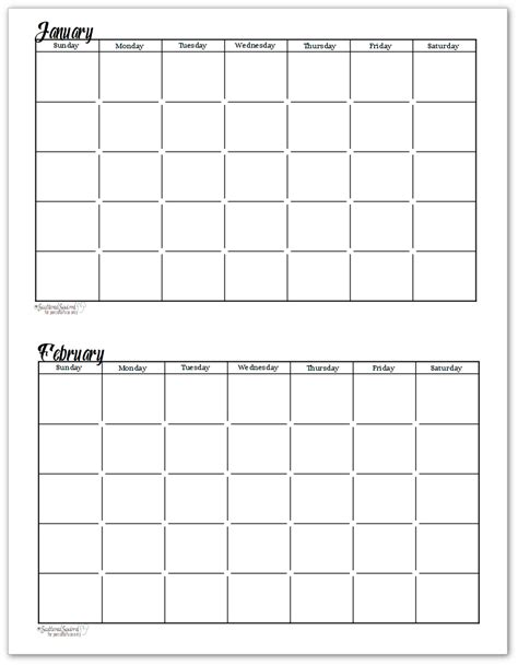 printable undated calendar template black and white undated monthly calendars are great