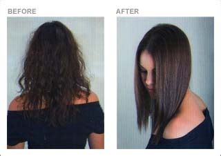 keratin natural hair smoothing eliminate frizzy hair