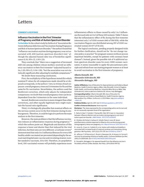 Jama Research Letter Pdf Autism Investigated