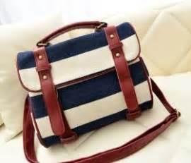 Navy Canvas Jacket Hoodie Ct Cvs 03 fashion blue striped canvas handbag shoulder bag on luulla
