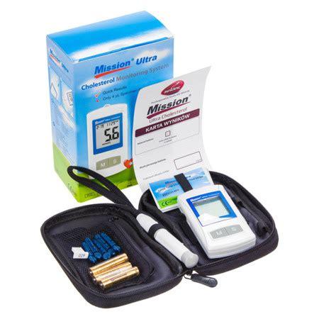 Kolesterol Mission Ultra Kolesterol mission ultra cholesterol meter aparat do oznaczania cholesterolu aparaty diagnostyczne