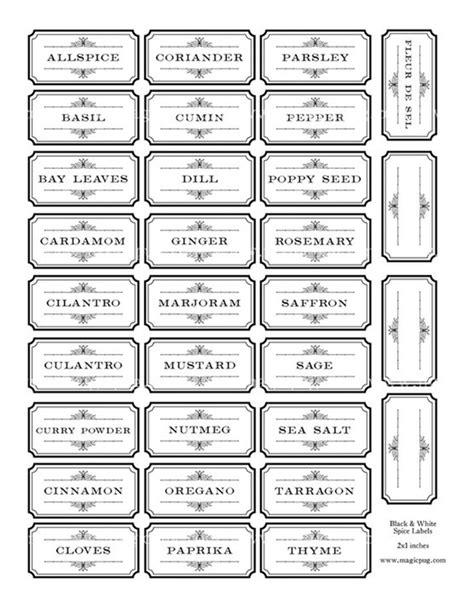 chalkboard label outline fresh spice jar labels chalkboard labels