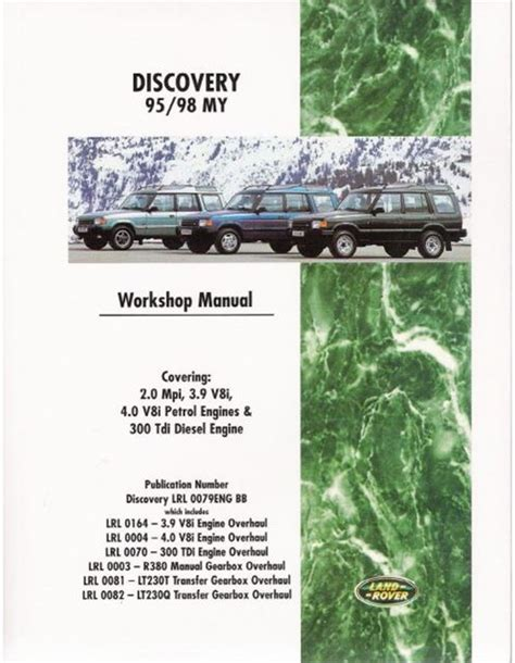 service manuals schematics 1995 land rover discovery navigation system land rover discovery 1995 1998 model 95 98 my year workshop repair manual book ebay